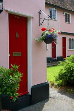 vchod do řadového domu